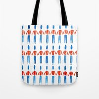 soldier Tote Bags featuring Soldier Soldier by HannyPascoe