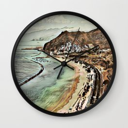 Toony Travel -Tenerife 1 Wall Clock