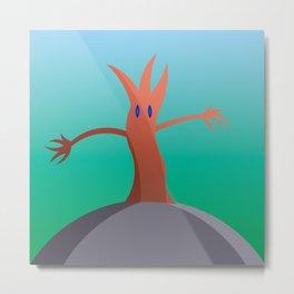 Living Tree On Hill Metal Print