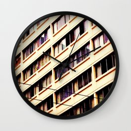Day Nine: Urban Patterns Wall Clock