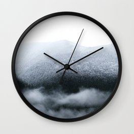 Low Hanging Fog in the Canadian Rockies Wall Clock