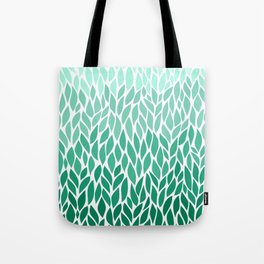 Green Ombre Leaves Tote Bag