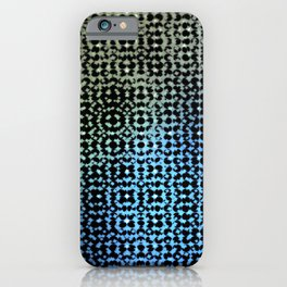 Colorful pattern on a black background. iPhone Case