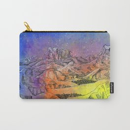 rainbow mountain watercolor Carry-All Pouch
