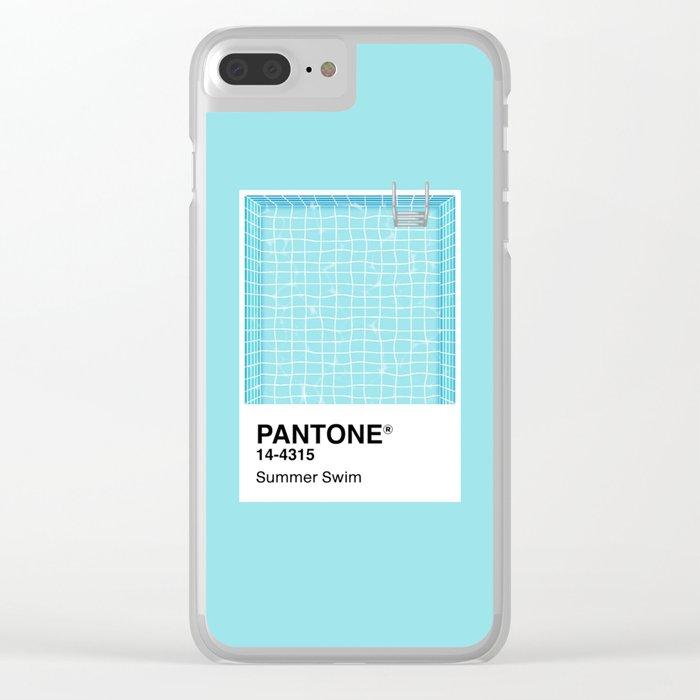 Pantone Series – Summer Swim Clear iPhone Case
