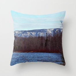 Mont Albert in the Spring Throw Pillow