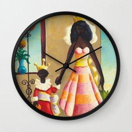 African American Masterpiece 'La Reine et Son Fils' by Orville Bulman Wall Clock