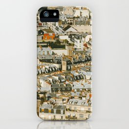 A Mosaic of Apartments in Paris, France. iPhone Case