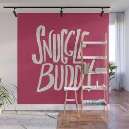Snuggle Buddy x Pink Wall Mural