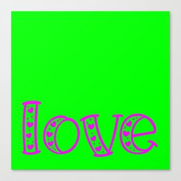Love & Flashy Colors Canvas Print