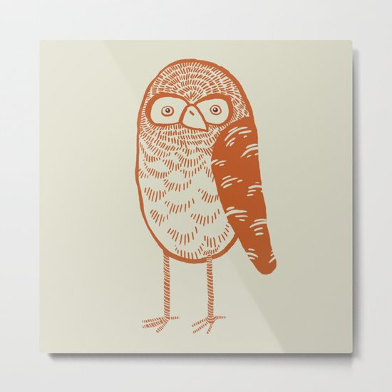 Neutral Owl Metal Print