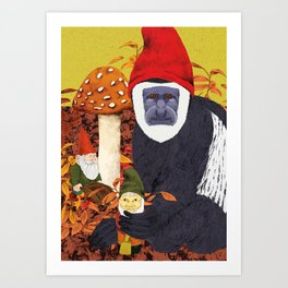 Autumn Gnomes Art Print