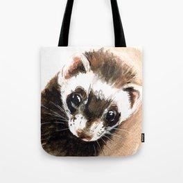 Ferret portrait Tote Bag