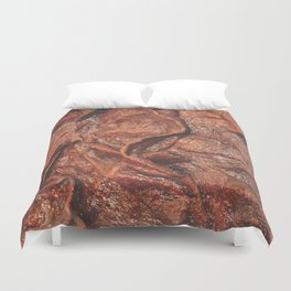 Brown Contours 1 Duvet Cover