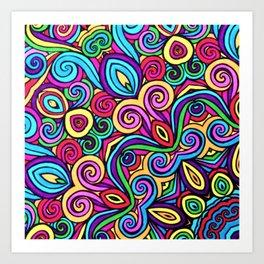 Saratoga Rainbow Swirls Absract Art Print