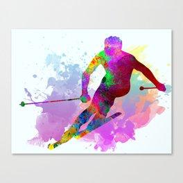 Downhill skier Canvas Print