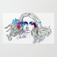 venus Area & Throw Rugs featuring Venus by GabrielaBasin
