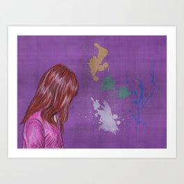 Little Lily Art Print
