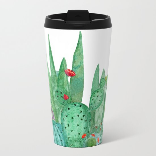 Cactus 12a Metal Travel Mug