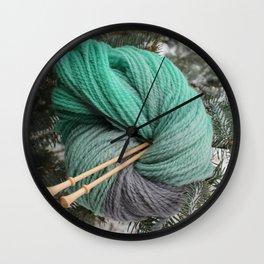 Winter Slytherin Wall Clock