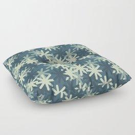 Mod Snowflakes Floor Pillow
