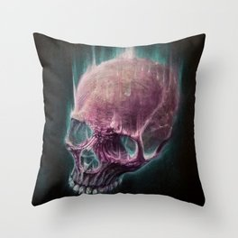 Glow Skull Throw Pillow