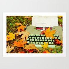 It Was a Gorgeous Autumn Day Art Print