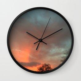 Stormy Sunset Wall Clock