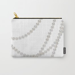 White Pearls Carry-All Pouch