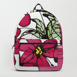 Seven Flowers (Pink): gorgeously simple original art, vibrant flowers in a pot Backpack