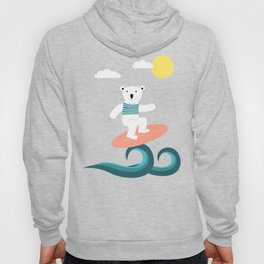 Polar bear surfing. Hoody