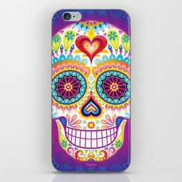 Sugar Skull Art (Luminesce) iPhone Skin