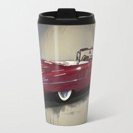 Classic 1959 Red Cadillac Convertible Travel Mug