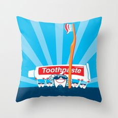 Teeth on Parade Throw Pillow