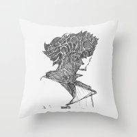 cowboy bebop Throw Pillows featuring Space Cowboy by Hinterlund