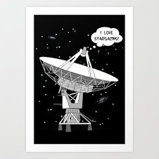 I love stargazing! Art Print