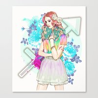 sagittarius Canvas Prints featuring Sagittarius by Sara Eshak