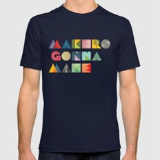 Makers Gonna Make MEDIUM Mens Fitted Tee Navy