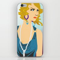 gatsby iPhone & iPod Skins featuring Gatsby by David Sparvero