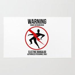 Electric Boogaloo Warning Rug