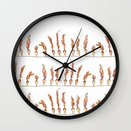 Seaweed Stripes Wall Clock