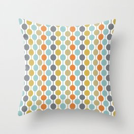 Retro Circles Mid Century Modern Background Throw Pillow
