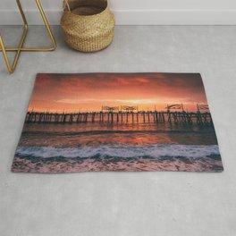 Redondo Beach Pier Sunset Rug