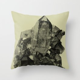 Vintage Crystal Mineral Throw Pillow
