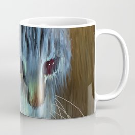 Cat In Blues And Yellows Coffee Mug