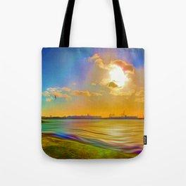 Sunrise at the Marina Tote Bag