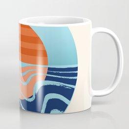 Sweetness - retro minimal 70s style throwback sunset sunrise ocean socal art Coffee Mug