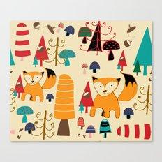 woodland fox Canvas Print