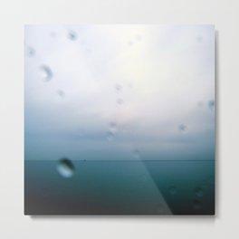Rain and Sea Metal Print