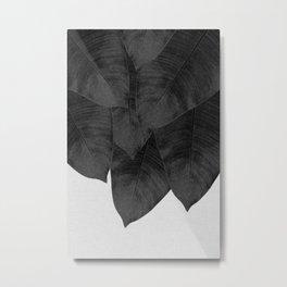 Banana Leaf Black & White I Metal Print